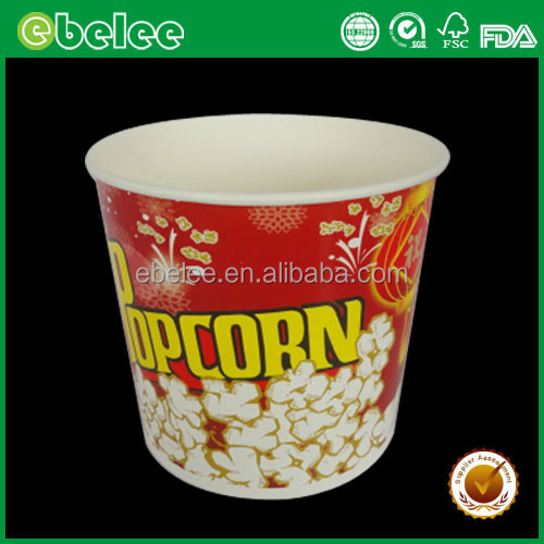 paper popcorn bucket with lid