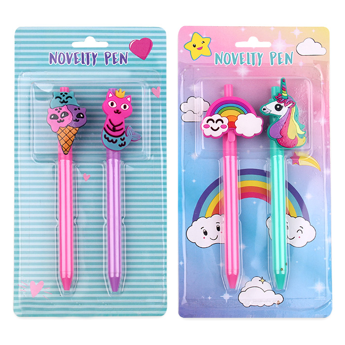 Licheng BP3639 Pens with Character, Innovative Cat Mermaid Alpaca Cactus Ice Cream Shaped Pens
