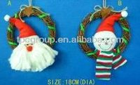 Christmas Santa Claus wreath