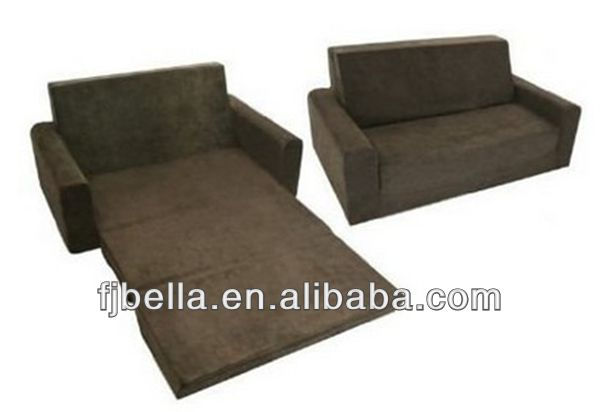 Kids Flip Sofa Foam Couch Folding Sofa Bed -Chocolate