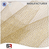 100% Polyester Flower Wrap Stiff Mesh Fabric with Metallic Yarn