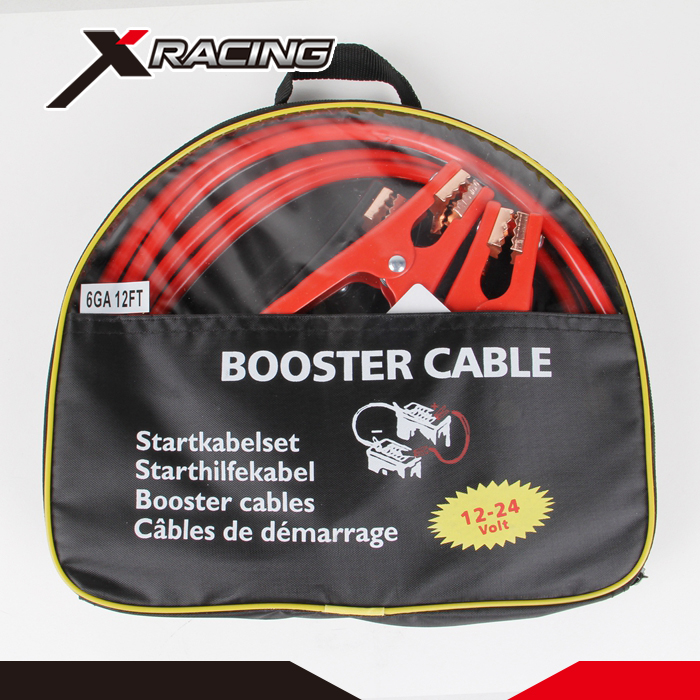 Heavy Duty 2 Gauge Booster Jumper Cables Auto Car Jumping Cables