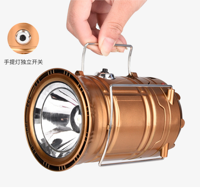 Outdoor Telescopic Portable Emergency Lantern Led Solar Charging Camping Lamp
