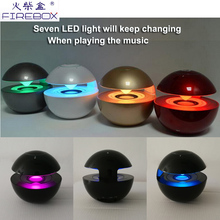 Custom Colorful lights TF card high sound quality portable wireless car subwoofer unique bluetooth light bulb speaker