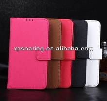Book leather case for Samsung Galaxy S5, cross-line wallet case for Samsung i9600