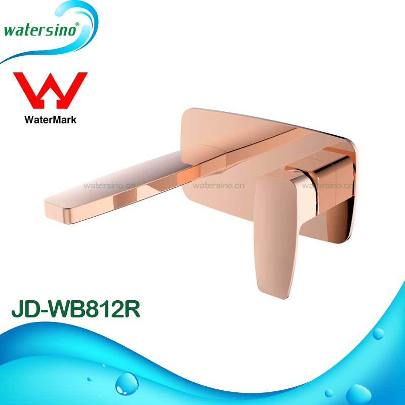 JD-WB812R Australia hot selling oval design wall mounted rose gold plated 7 years guarantee basin or bathtub faucet