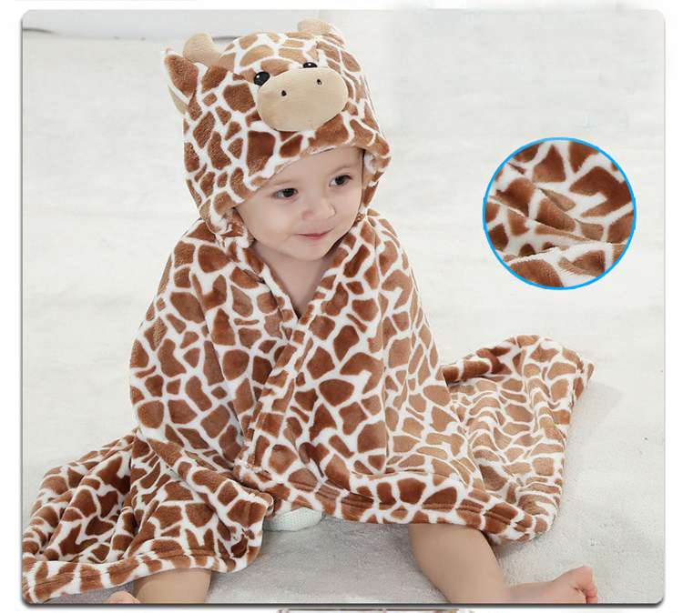 Eco-friendly animal blanket baby cloak bath towel for infant
