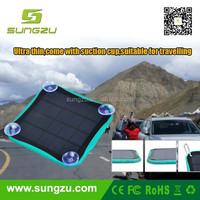 Mountain climbing buckle free slim solar power bank with fashion and waterproof design