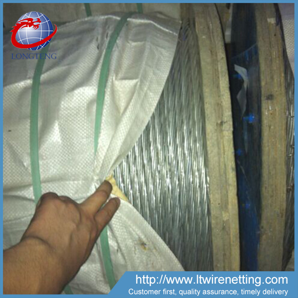 10mm 1*7 Hot Dipped Galvanized Steel Wire Rope
