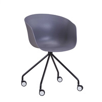 new design best sale furniture PP Plastic tub metal movable legs swivel living room leisure chair