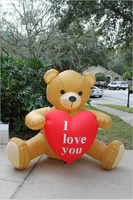 Popular classical outdoor inflatable valentine decoration