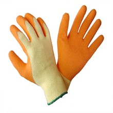 MHR 10g blue latex coated hand gloves/working gloves/safety gloves