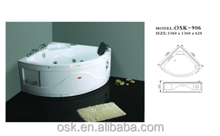 China Massage Bathtub Price with Good Quality Bathroom Hot Tub