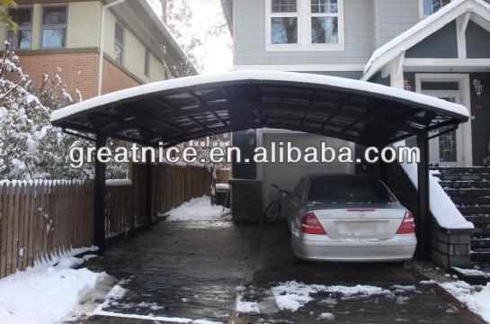 Aluminum double carport garage m style with polycarbonate - Garajes de metal ...