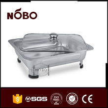 Hot selling stainless steel small buffet chafing dish with glass lid