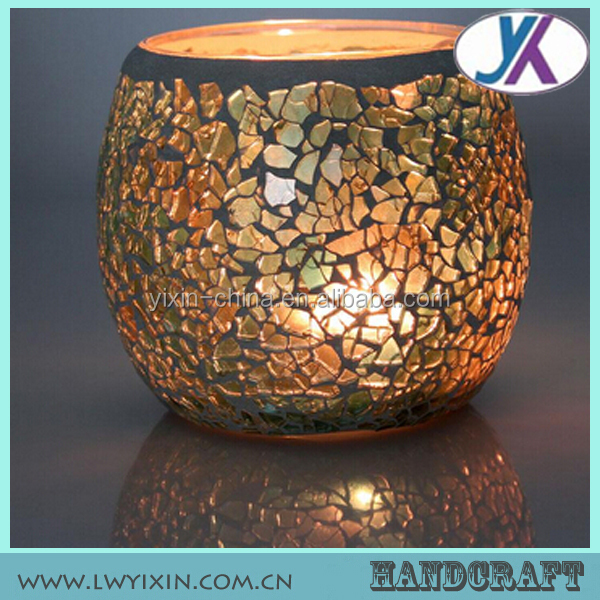 Circle of friends antique decorative home goods mosaic glass garden lantern candle holder
