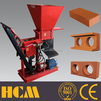low investment Eco Brava 1-25 eco-brava clay interlocking brick making machine price