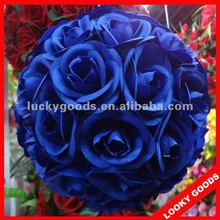 navy blue artificial rose flower ball for decoration,hanging round flower ball