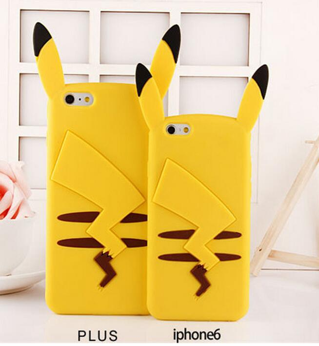 silicone pikachu case, pokemon phone case for iphone 6s