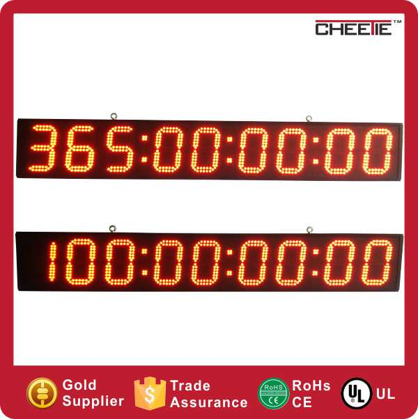 9 digit days countdown led digital christmas clock outdoor
