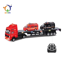 newest design 4 channels plastic rc tractor trailer trucks for sale from china