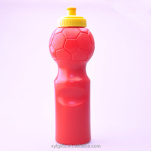 750mL/25oz gourd shaped plastic drinking water bottle with football texture