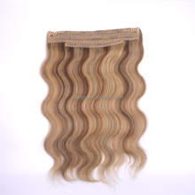 Salon need top quality thick end 100g 120g halo fish wire hair extension