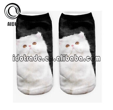 Customized Polyester 3D Photo Sublimation Print Ankle Socks