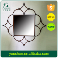 Classic Design Small Order Accept Free Samples Antique Metal Mirror Frame