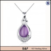 Sterling Silver Price Per Gram, 925 Amethyst Silver Necklace