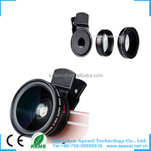 Apexel gadgets 2016 newest mobile lens japan glass optical 52mm wide angle lens