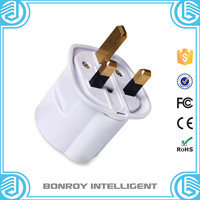 Newest factory design top sell euro to uk 3 pin portable fashion world travel adapter