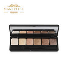 Professional OEM factory 6 color eyeshdow palette with brush
