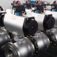PVC Electric Actuator Trunnion Mounted Ball Valve