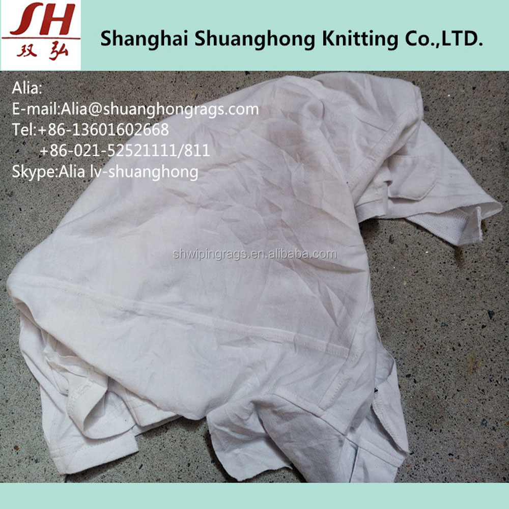 White Cotton Wiping Rags Recycled Cleaning Rags Wipers for Machine