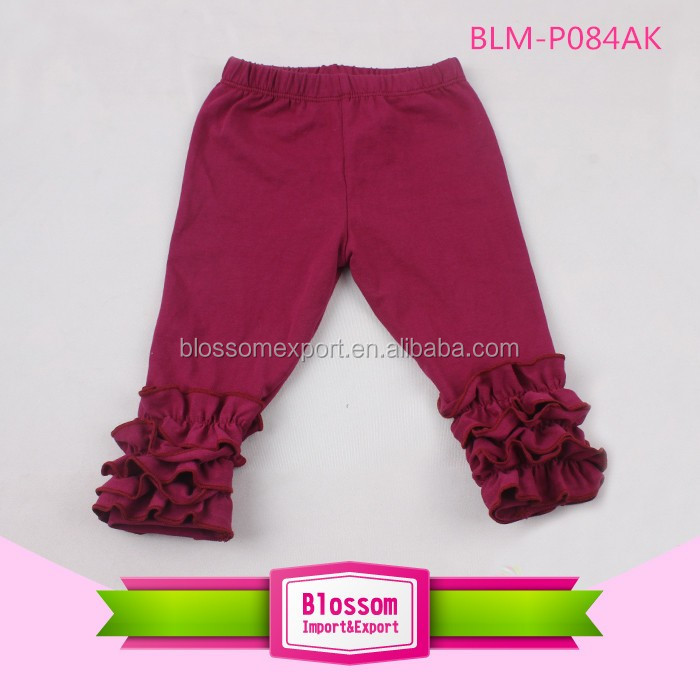 Hot sale boutique baby icing breathable ruffle pants and softtextile icing baby leggings