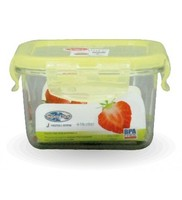 Super Lock Tritan BPA free clear plastic lunch box with lock/plastic food storage container with sealed lid # 6885000MCB0100