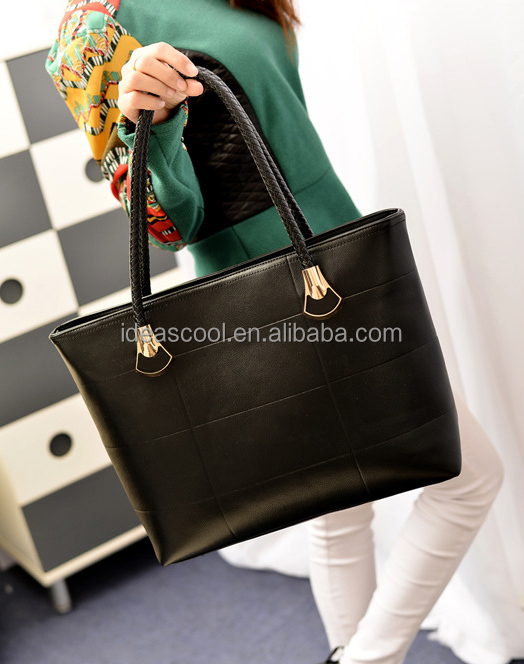 Wholesale High Quality PU Leather Handbags Tote Bag