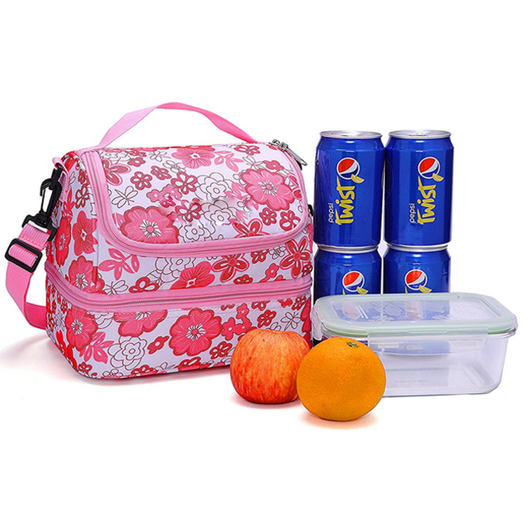 double insulated two layers lunch cooler box wholesale