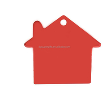 House shaped Aluminum material pet id tags Oxidized