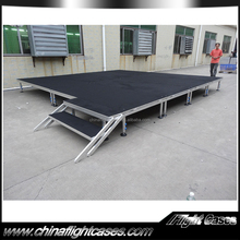4x8ftm Mobile Folding Stage Portable Stage With Wheels For Outdoor Event