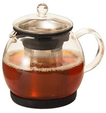 Wholesale Clear Custom Pyrex Glass Tea Kettle With Infuser 800ml
