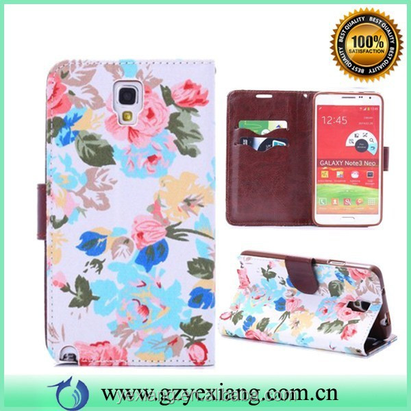 Stand Wallet Leather Case For Samsung Galaxy Note 3 NEO N750 N7505 N750