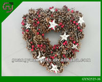 christmas nature pinecone decorated christmas wreath