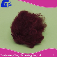 GTR43 Dope dyed red polyester staple fiber (psf)for spunbond and needle punch nonwoven