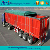 PVC coated Tarpaulin Truck Cover In Coated Fabric