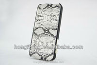 Trendy leather case for iphone 5 snake skin pattern