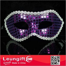 Sexy purple masquerade shiny lace mask