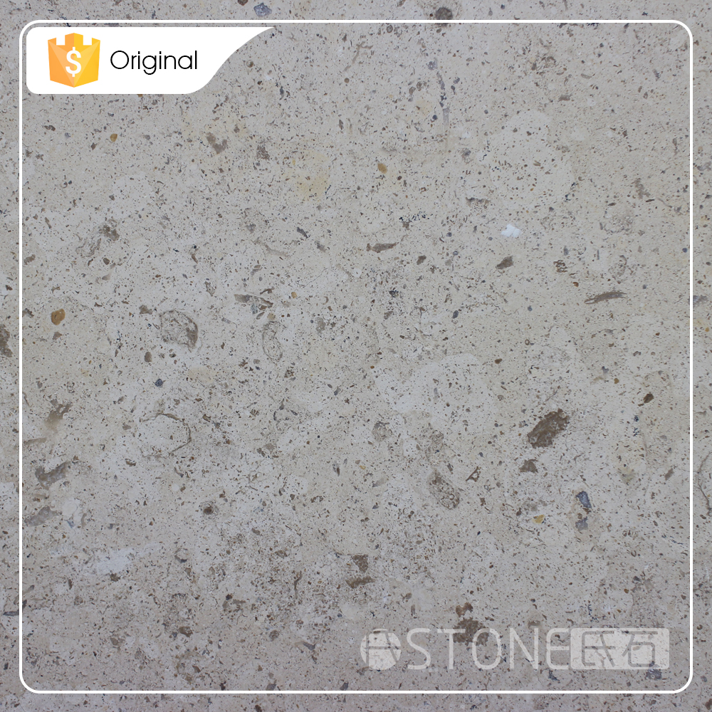 2015 New Design Low Price Classic Cream Limestone Polished Tile