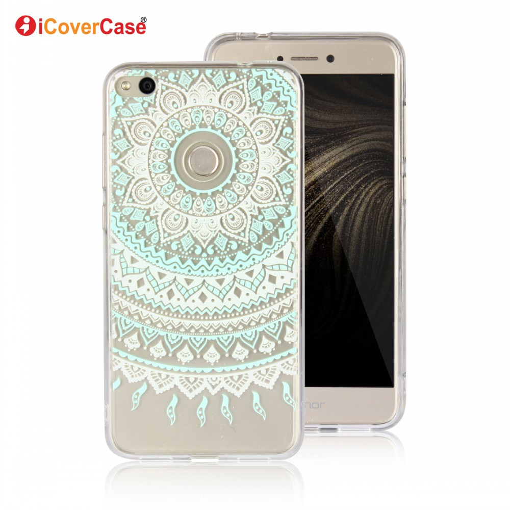 Soft Cell Phone Case Colorful Rubber Silicone Gel TPU Case For Huawei Honor 8 Lite Case Back Cover